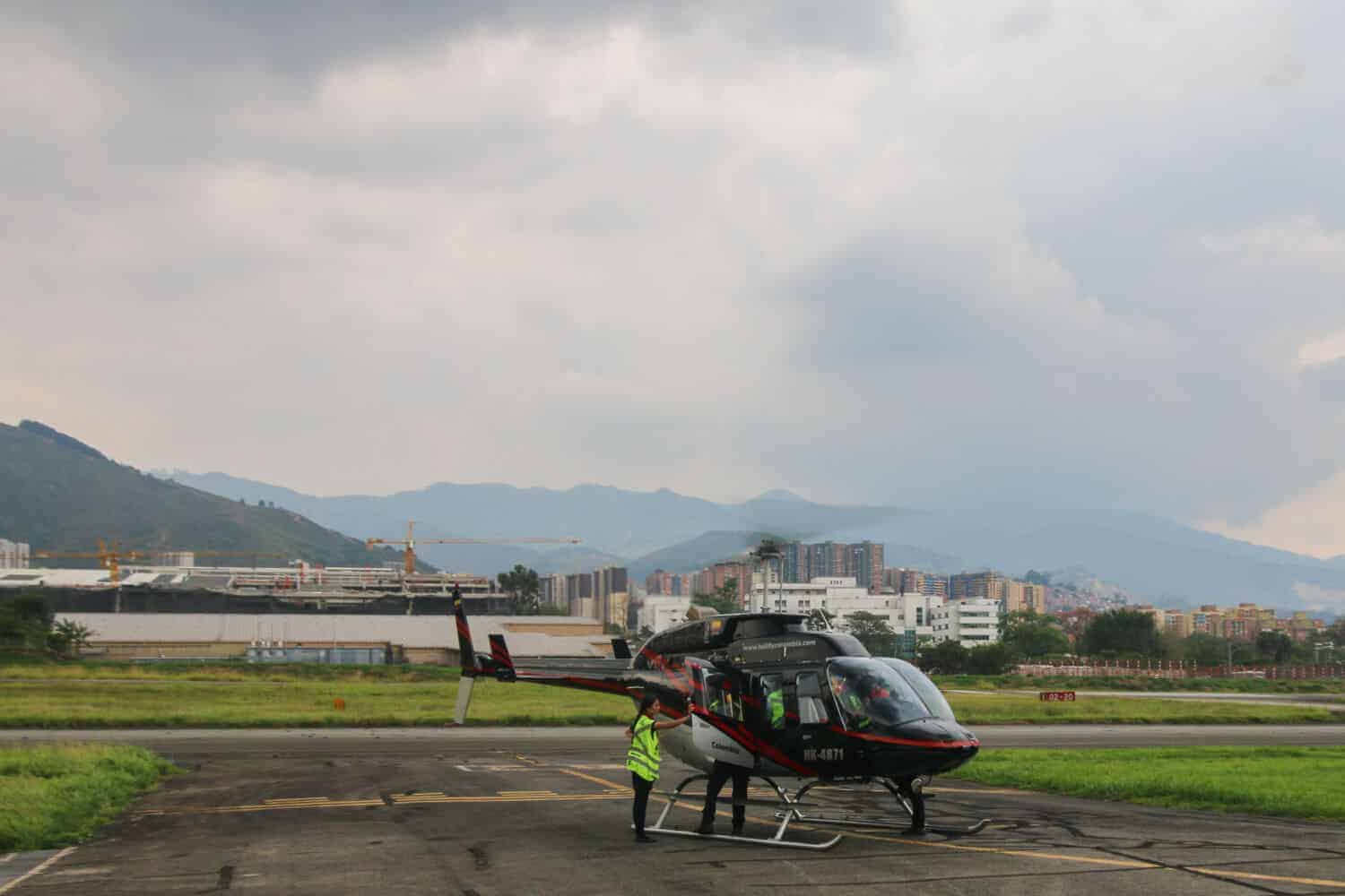 Helicopter shared tour in Medellin
